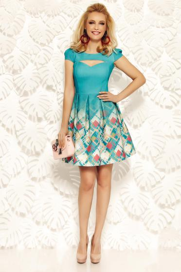 Fofy blue daily cloche dress cut-out bust design soft fabric