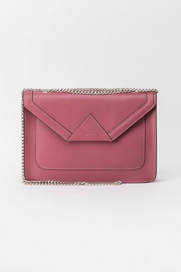 Purple bag natural leather casual long chain handle