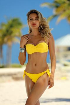 Yellow swimsuit brazilian bikinis with balconette bra adjustable bikinis detachable straps adjustable straps