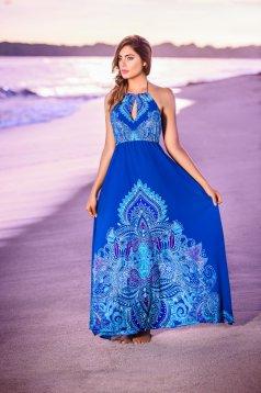 Cosita Linda blue beach wear dress airy fabric with elastic waist