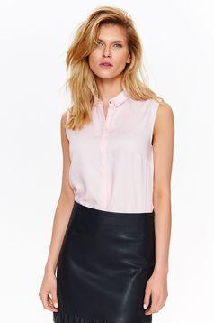 Top Secret rosa sleeveless flared women`s shirt basic airy fabric