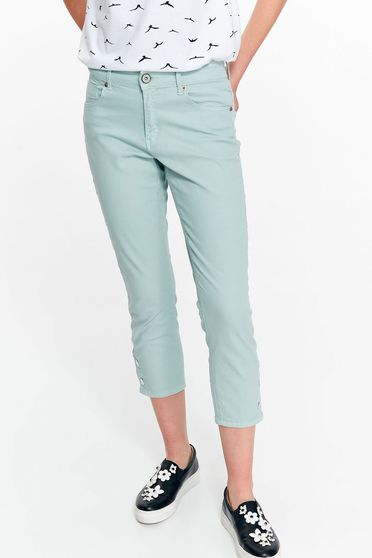 Top Secret lightblue casual cotton trousers with medium waist with pockets