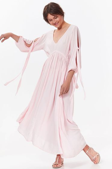 Top Secret pink casual asymmetrical dress with easy cut airy fabric