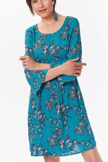 Top Secret turquoise daily a-line dress airy fabric with inside lining