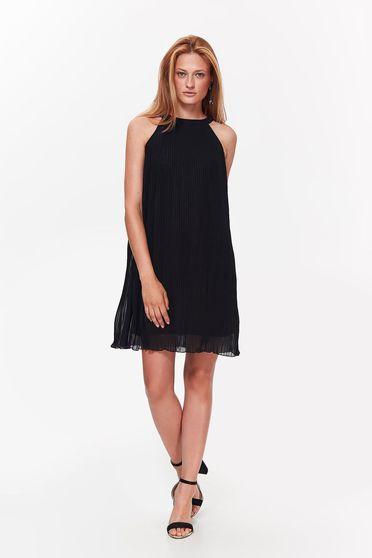 Top Secret black elegant flared folded up dress with inside lining