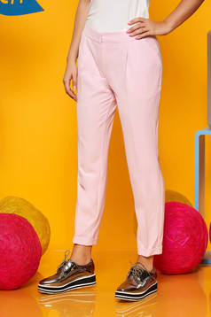 Top Secret rosa office conical trousers slightly elastic fabric with pockets with medium waist