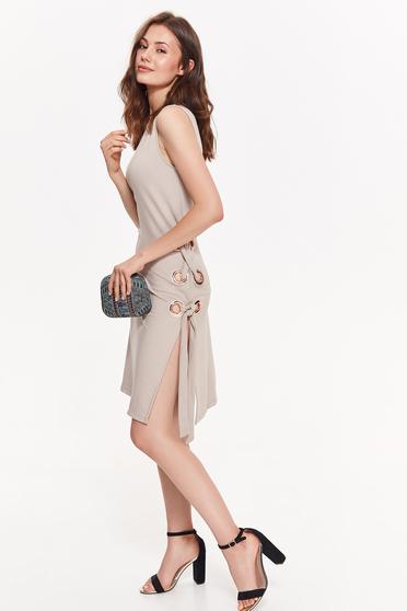 Top Secret cream clubbing dress slightly elastic fabric with tented cut sleeveless