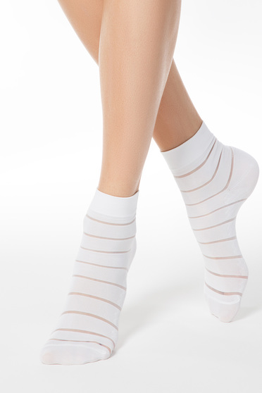 White fitted heel tights & socks from elastic fabric