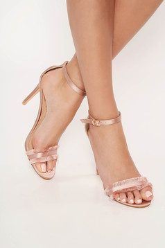 Top Secret rosa elegant sandals with thin straps