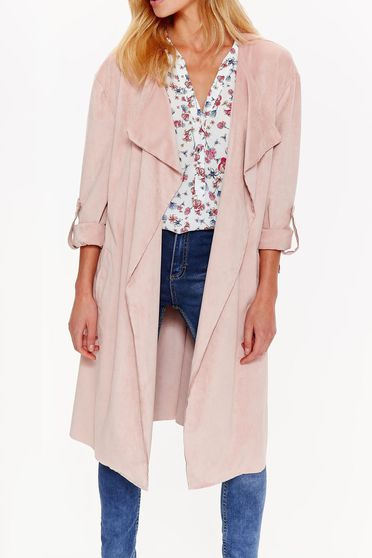Top Secret rosa trenchcoat casual flared soft fabric with 3/4 sleeves
