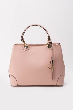 Rosa office bag natural leather long, adjustable handle