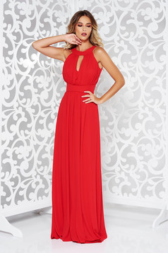 LaDonna red occasional cloche dress from veil fabric with inside lining with push-up cups
