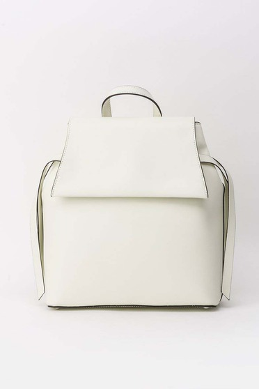 Grey casual backpacks natural leather