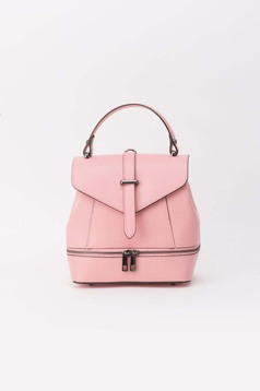Rosa leather backpacks zipper accessory metallic buckle