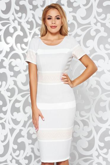 Grey elegant midi pencil dress slightly elastic fabric