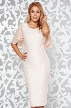 Rosa elegant midi pencil dress from jacquard