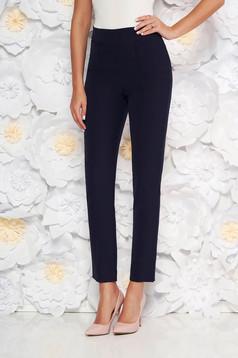 StarShinerS darkblue elegant office trousers high waisted slightly elastic fabric