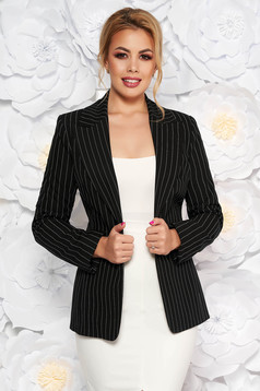 LaDonna black office jacket tented slightly elastic fabric
