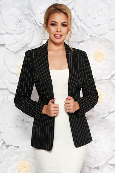 LaDonna black office jacket tented slightly elastic fabric