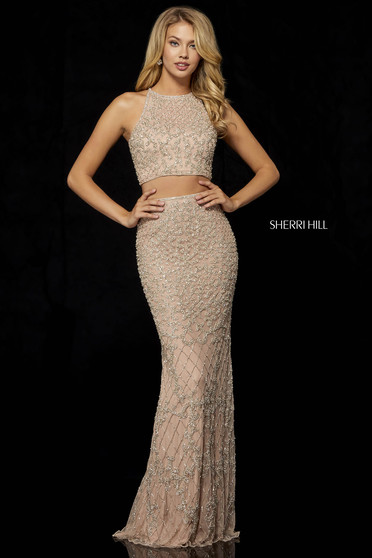 Sherri Hill 52088 Nude Dress