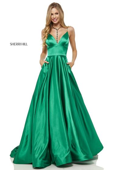 Sherri Hill 52195 Green Dress