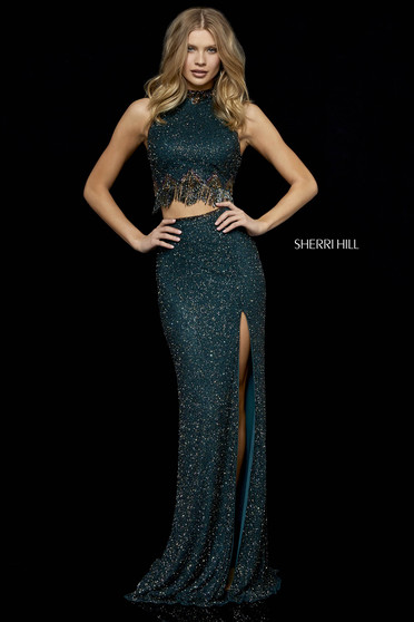 Sherri Hill 52226 DarkGreen Dress