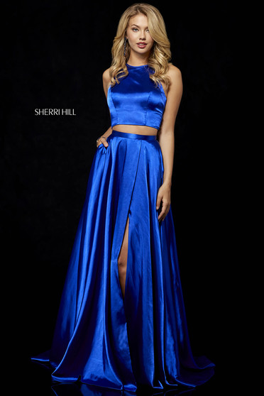Sherri Hill 52230 Blue Dress