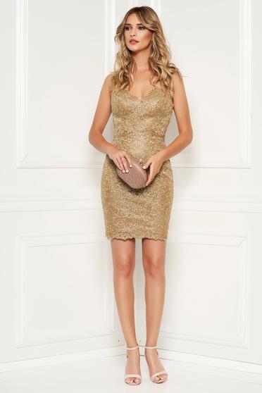 Sherri Hill 52241 Gold Dress