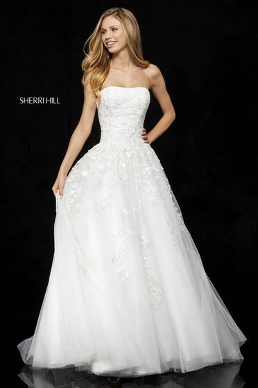 Sherri Hill 52341 White Dress