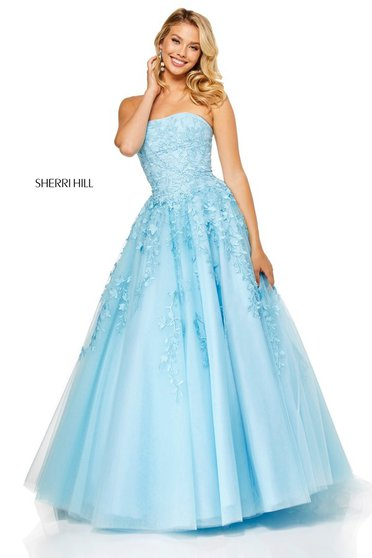 Sherri Hill 52341 LightBlue Dress