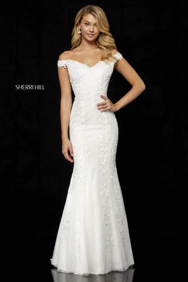 Sherri Hill 52344 White Dress