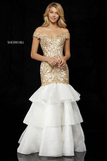 Sherri Hill 52347 Gold Dress