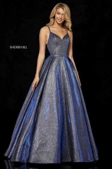 Sherri Hill 52364 Blue Dress