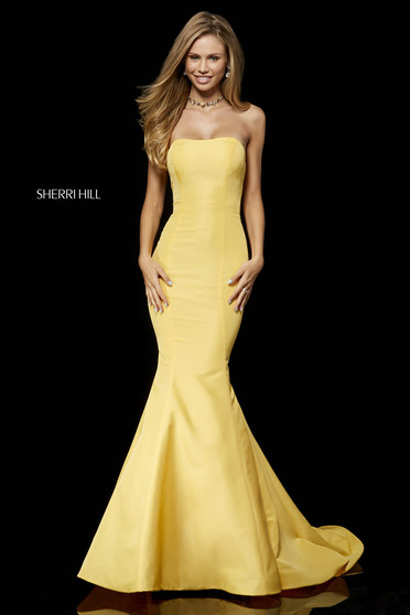 Sherri Hill 52390 Yellow Dress