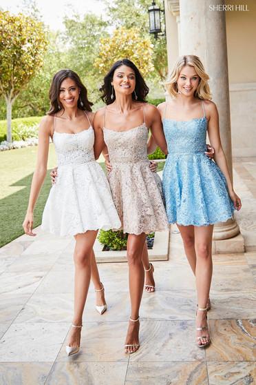 Sherri Hill 52512 Blue Dress