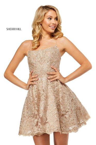 Sherri Hill 52512 Nude Dress