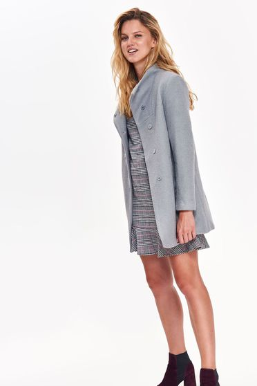 Top Secret graphitegrey basic coat with straight cut long sleeved with inside lining