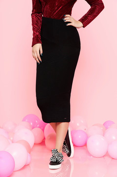 Top Secret black pencil skirt slightly elastic fabric high waisted