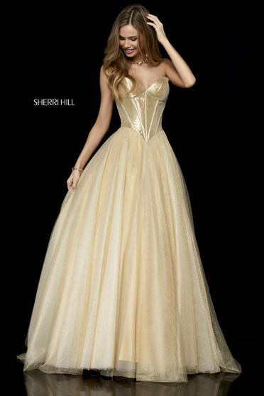 Sherri Hill 52265 Gold Dress