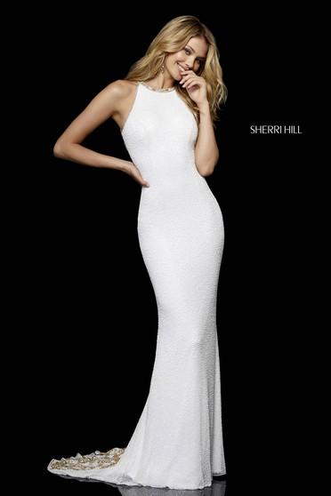 Sherri Hill 52320 White Dress