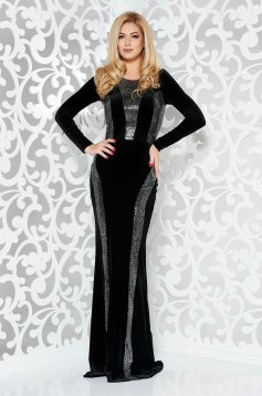 StarShinerS black occasional mermaid dress slightly elastic fabric with sequin embellished details