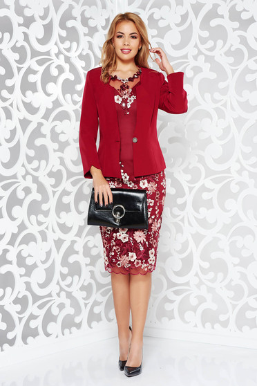 Burgundy elegant lady set from laced fabric