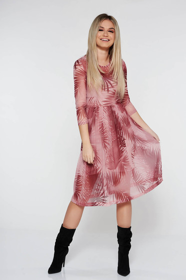StarShinerS rosa daily cloche dress with 3/4 sleeves transparent fabric