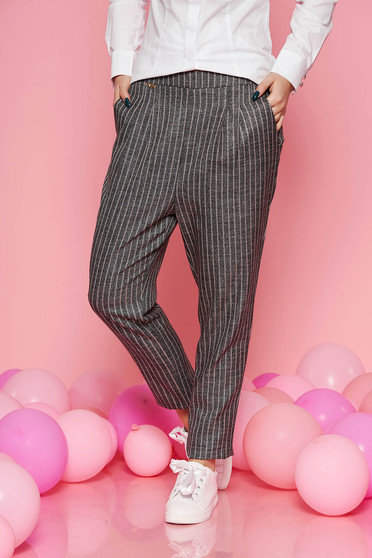 Fofy rosa office conical high waisted trousers from non elastic fabric with pockets
