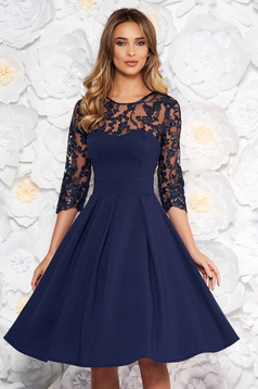 Artista darkblue occasional cloche dress slightly elastic fabric with inside lining with push-up cups
