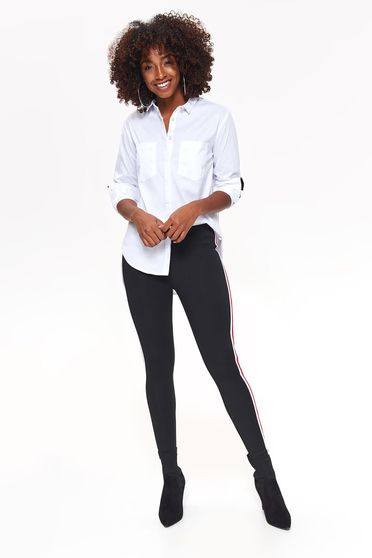 Top Secret black casual tights with tented cut slightly elastic fabric with medium waist