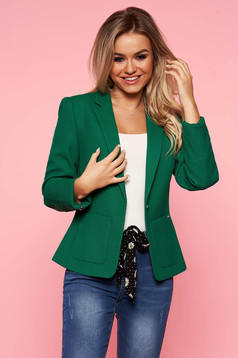 Top Secret green office tented jacket from non elastic fabric