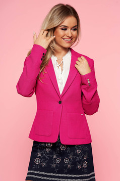 Top Secret darkpink jacket office tented from non elastic fabric with inside lining with pockets