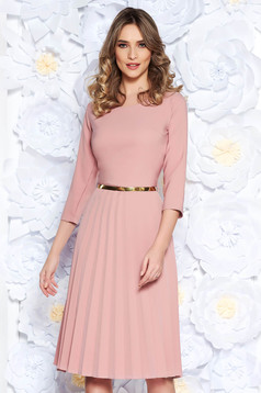 Rosa elegant folded up cloche dress flexible thin fabric/cloth accessorized with belt