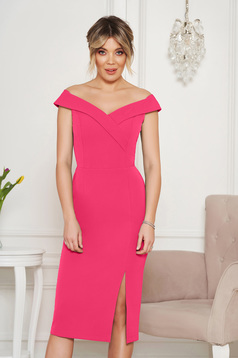 StarShinerS rosa occasional dress with tented cut with v-neckline on the shoulders